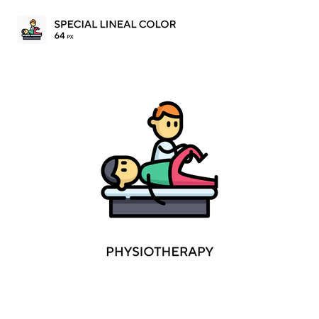 Physiotherapy Special lineal color icon. Illustration symbol design template for web mobile UI element. Perfect color modern pictogram on editable stroke.
