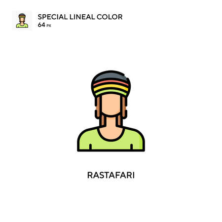 Rastafari Special lineal color icon. Illustration symbol design template for web mobile UI element. Perfect color modern pictogram on editable stroke.