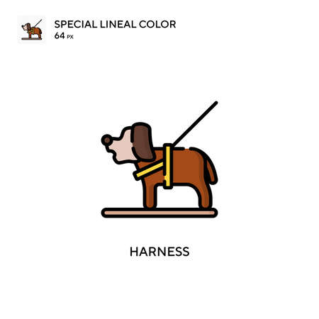 Harness Special lineal color icon. Illustration symbol design template for web mobile UI element. Perfect color modern pictogram on editable stroke. Ilustracja