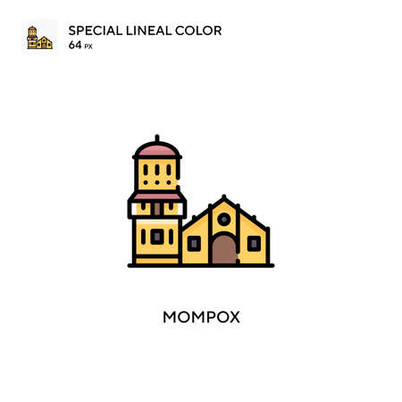 Mompox Special lineal color icon. Illustration symbol design template for web mobile UI element. Perfect color modern pictogram on editable stroke.