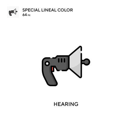 Hearing Special lineal color icon. Illustration symbol design template for web mobile UI element. Perfect color modern pictogram on editable stroke.