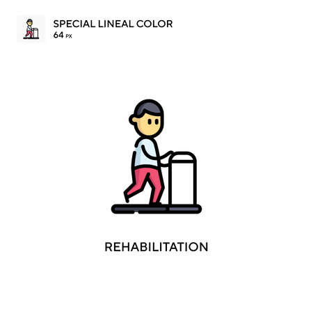 Rehabilitation Special lineal color icon. Illustration symbol design template for web mobile UI element. Perfect color modern pictogram on editable stroke.
