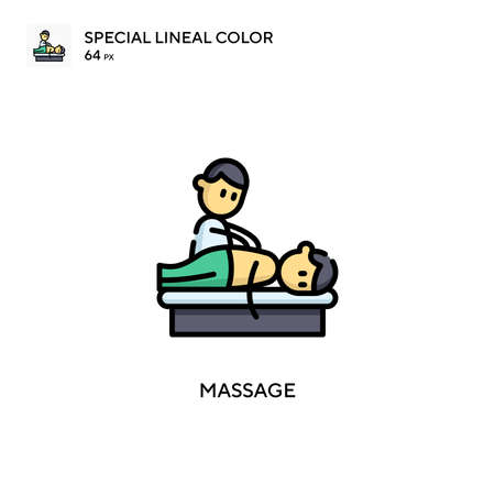 Massage Special lineal color icon. Illustration symbol design template for web mobile UI element.