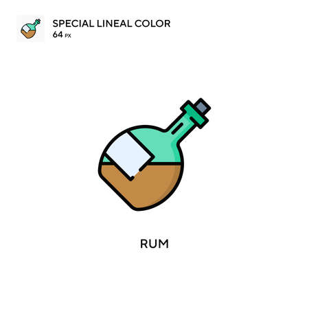 Rum Special lineal color icon. Illustration symbol design template for web mobile UI element.
