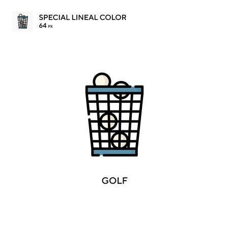 Golf Special lineal color icon. Illustration symbol design template for web mobile UI element.