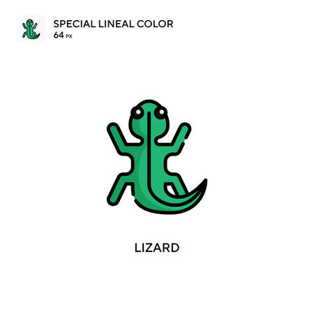 Lizard Special lineal color icon. Illustration symbol design template for web mobile UI element.