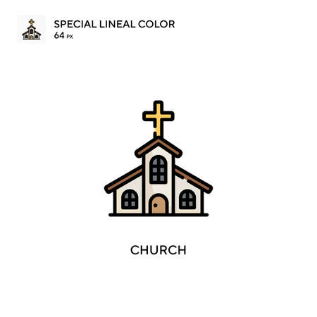 Church Special lineal color icon. Illustration symbol design template for web mobile UI element.
