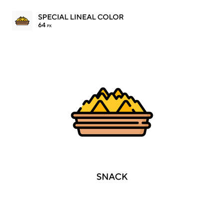 Snack Special lineal color icon. Illustration symbol design template for web mobile UI element.