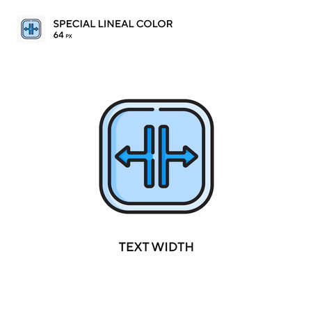Text width Special lineal color icon. Illustration symbol design template for web mobile UI element.
