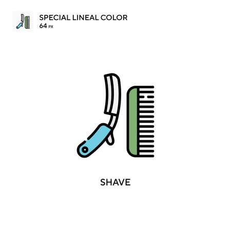 Shave Special lineal color icon. Illustration symbol design template for web mobile UI element.