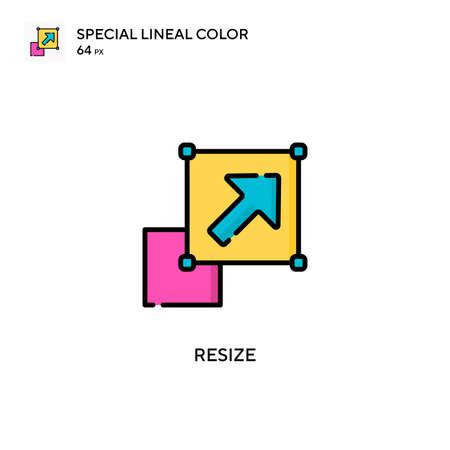 Resize Special lineal color icon. Illustration symbol design template for web mobile UI element. Ilustração