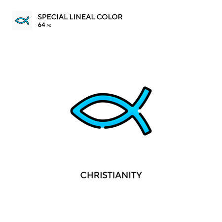 Christianity Special lineal color icon. Illustration symbol design template for web mobile UI element.