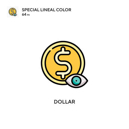 Dollar Special lineal color icon. Illustration symbol design template for web mobile UI element.