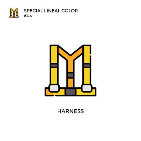 Harness Special lineal color icon. Illustration symbol design template for web mobile UI element. Ilustracja