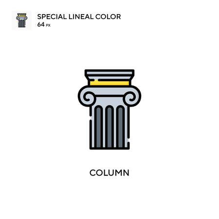 Column Special lineal color icon. Illustration symbol design template for web mobile UI element.