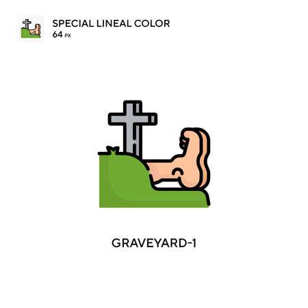 Graveyard-1 Special lineal color icon. Illustration symbol design template for web mobile UI element.