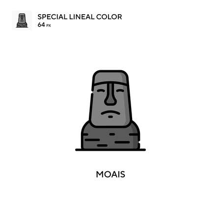 Moais Special lineal color icon. Illustration symbol design template for web mobile UI element.