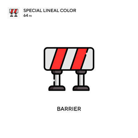 Barrier Special lineal color icon. Illustration symbol design template for web mobile UI element.