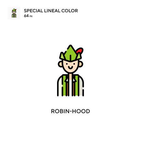 Robin-hood Special lineal color icon. Illustration symbol design template for web mobile UI element. Perfect color modern pictogram on editable stroke. Illustration