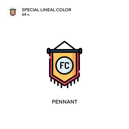 Pennant Special lineal color icon. Illustration symbol design template for web mobile UI element. Perfect color modern pictogram on editable stroke.