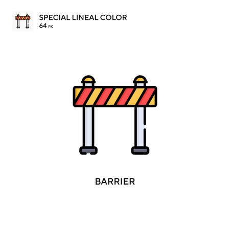 Barrier Special lineal color icon. Illustration symbol design template for web mobile UI element. Perfect color modern pictogram on editable stroke.