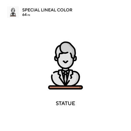 Statue Special lineal color icon. Illustration symbol design template for web mobile UI element. Perfect color modern pictogram on editable stroke.