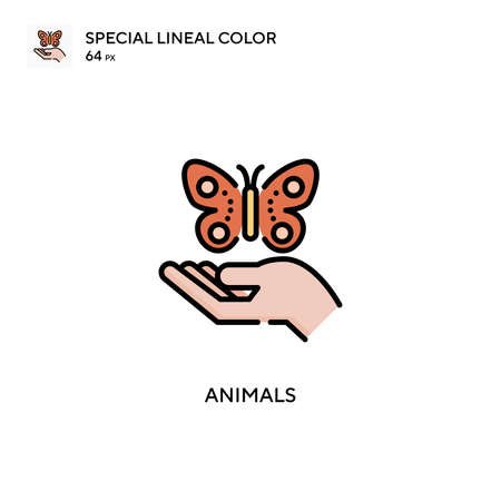 Animals Special lineal color icon. Illustration symbol design template for web mobile UI element. Perfect color modern pictogram on editable stroke.