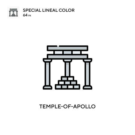 Temple-of-apollo Simple vector icon. Perfect color modern pictogram on editable stroke.