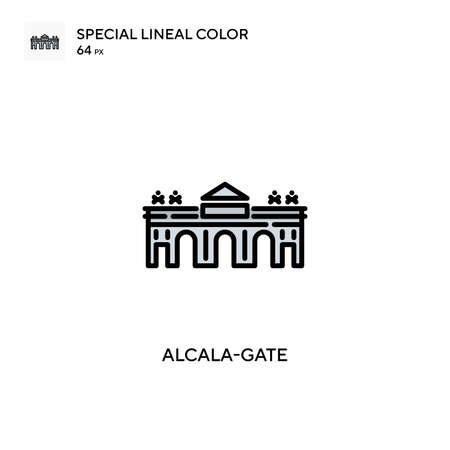 Alcala-gate Simple vector icon. Perfect color modern pictogram on editable stroke. Illusztráció