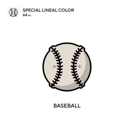 Baseball Simple vector icon. Perfect color modern pictogram on editable stroke.
