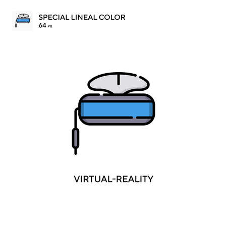 Virtual-reality Simple vector icon. Perfect color modern pictogram on editable stroke. Çizim