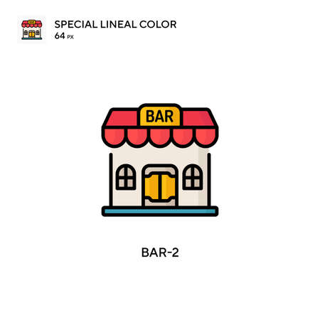 Bar-2 Simple vector icon. Perfect color modern pictogram on editable stroke.