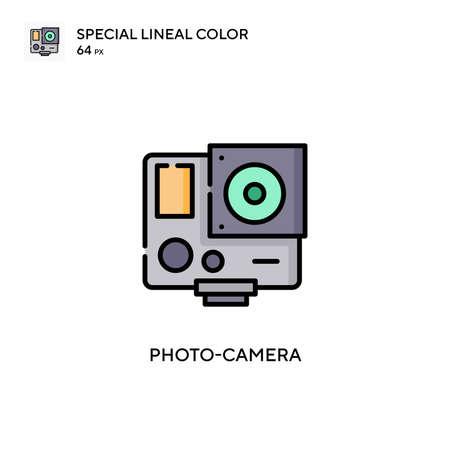Photo-camera Simple vector icon. Perfect color modern pictogram on editable stroke.