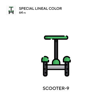 Scooter-9 Simple vector icon. Perfect color modern pictogram on editable stroke.