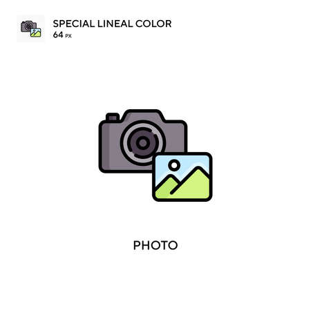 Photo Simple vector icon. Perfect color modern pictogram on editable stroke.