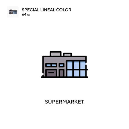 Supermarket Simple vector icon. Perfect color modern pictogram on editable stroke.