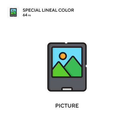 Picture Simple vector icon. Perfect color modern pictogram on editable stroke.