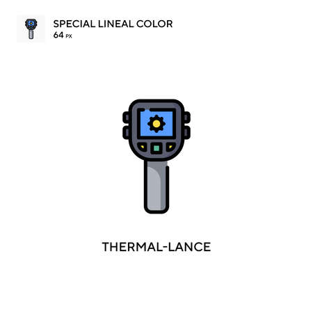 Thermal-lance Simple vector icon. Perfect color modern pictogram on editable stroke.