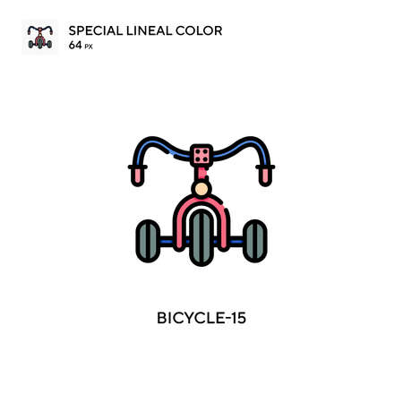 Bicycle-15 Simple icon. Perfect color modern pictogram on editable stroke.