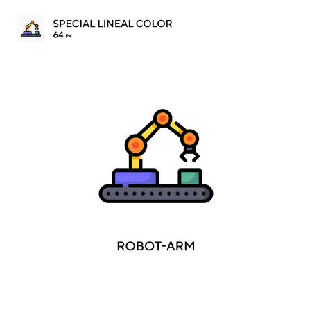 Robot-arm Simple icon. Perfect color modern pictogram on editable stroke.