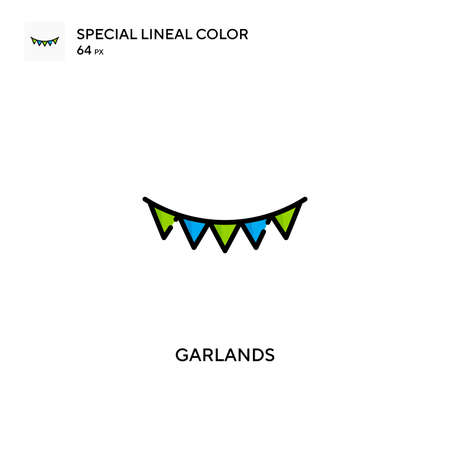Garlands Simple icon. Perfect color modern pictogram on editable stroke.