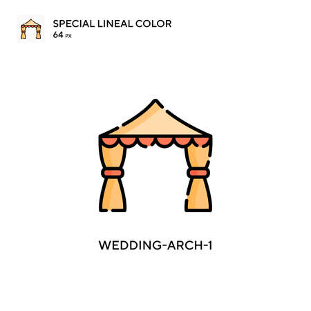 Wedding-arch-1 Simple icon. Perfect color modern pictogram on editable stroke.