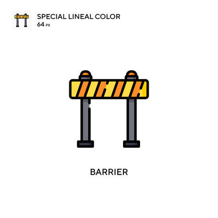 Barrier Simple vector icon. Perfect color modern pictogram on editable stroke.