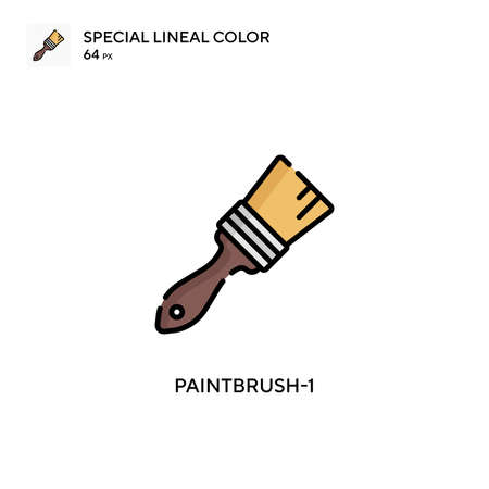 Paintbrush-1 Simple vector icon. Perfect color modern pictogram on editable stroke. Çizim