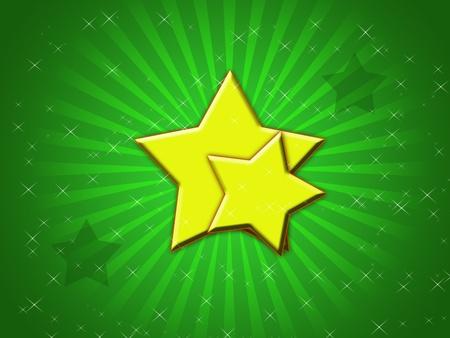 stars on green background