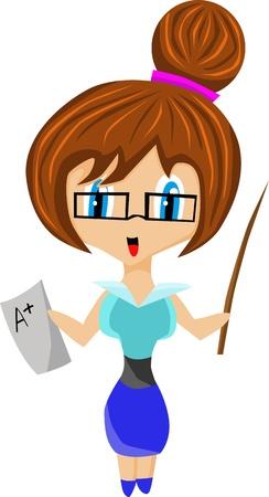 Cute teacher Stock Vector - 9549356