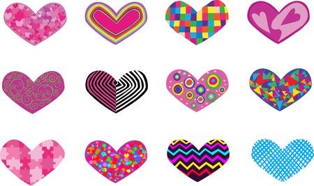 12 hearts
