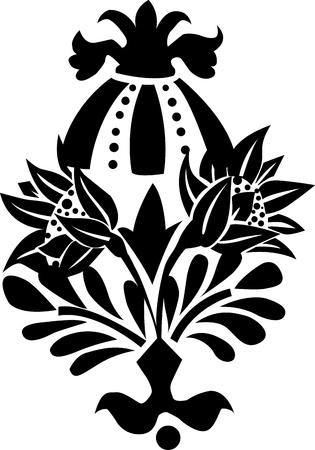 ornament flowers Vector