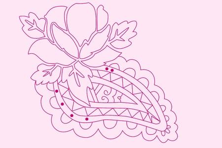 Vintage rose pattern Illustration