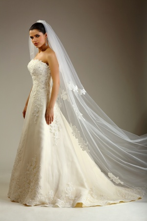 Girl is in wedding dress Stock Photo - 8810313